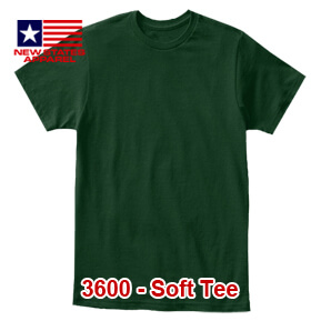 New States Apparel 3600 Soft Tee – Forest Green