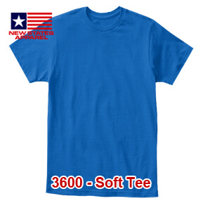 New States Apparel 3600 Soft Tee – Royal Blue