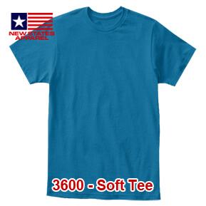 New States Apparel 3600 Soft Tee – Sapphire