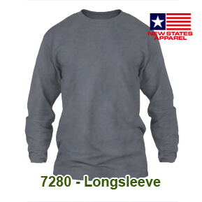 New States Apparel 7280 Longsleeve – Charcoal