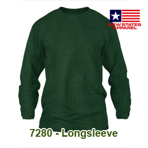 New States Apparel 7280 Longsleeve – Forest Green