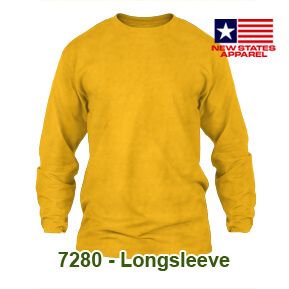 New States Apparel 7280 Longsleeve – Gold