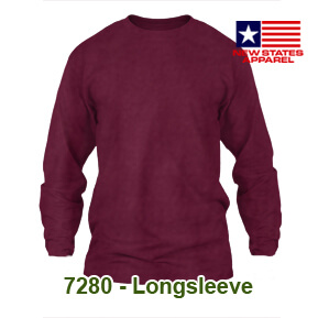 New States Apparel 7280 Longsleeve – Maroon