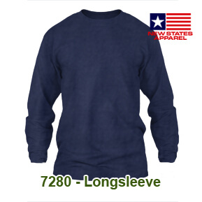 New States Apparel 7280 Longsleeve – Navy