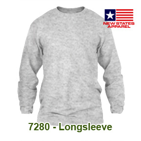 New States Apparel 7280 Longsleeve – Sport Grey