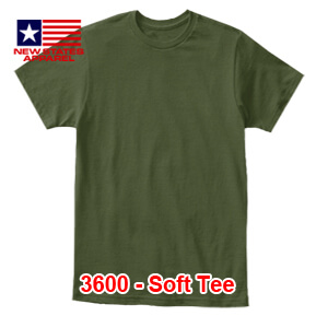 New States Apparel 3600 Soft Tee – Military Green