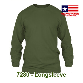 New States Apparel 7280 Longsleeve – Military Green