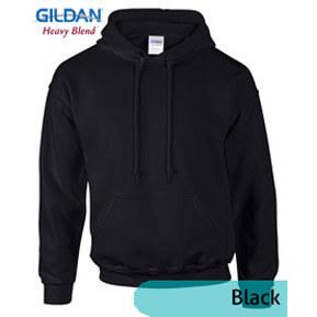 Gildan Hoodie Fleece 88500 – Hitam