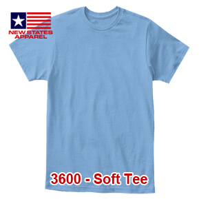 New States Apparel 3600 Soft Tee – Carolina Blue