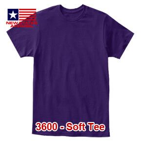 New States Apparel 3600 Soft Tee – Purple