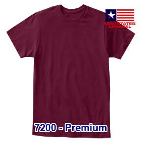 New States Apparel 7200 Premium – Maroon