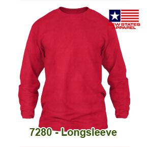 New States Apparel 7280 Longsleeve – Merah