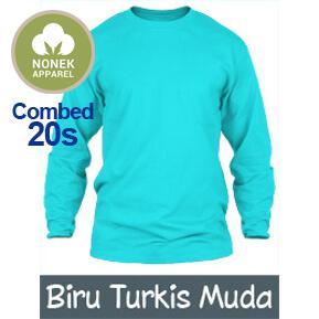Nonek Apparel 20s – Biru Turkis Muda Lengan Panjang