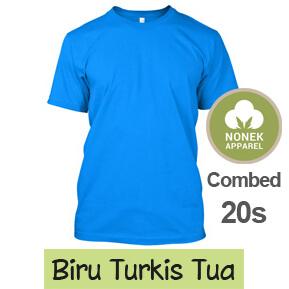 Nonek Apparel 20s – Biru Turkis Tua