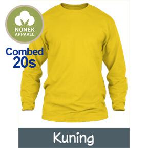Nonek Apparel 20s – Kuning Lengan Panjang