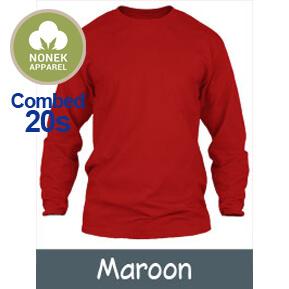 Nonek Apparel 20s – Maroon Lengan Panjang
