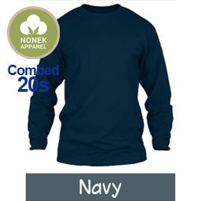 Nonek Apparel 20s – Biru Navy Lengan Panjang
