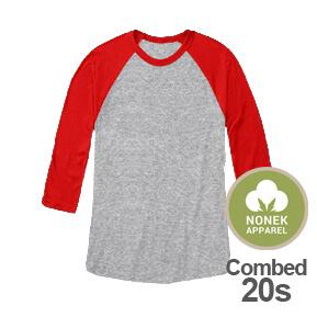 Nonek Apparel 20s – Raglan 3/4 Misty-Merah