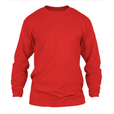 KPM Apparel 20s – Merah Lengan Panjang