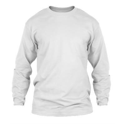 KPM Apparel 20s – Putih Lengan Panjang