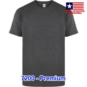 New States Apparel 7200 Premium – Black Heather
