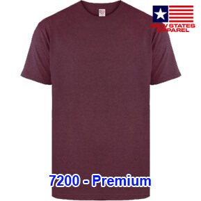 New States Apparel 7200 Premium – Burgundy Heather