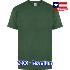 New States Apparel 7200 Premium – Dark Green Heather