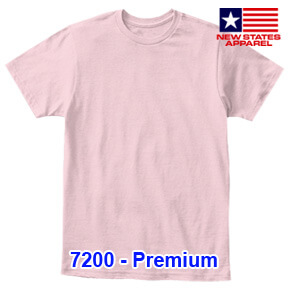 New States Apparel 7200 Premium – Light Pink