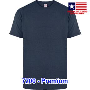 New States Apparel 7200 Premium – Navy Heather