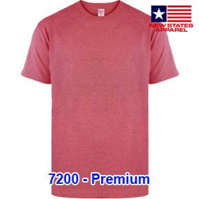 New States Apparel 7200 Premium – Red Heather