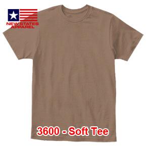 New States Apparel 3600 Soft Tee – Chestnut